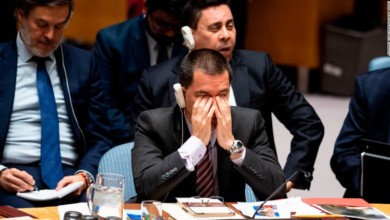Venezuelan Foreign Minister Jorge Arreaza listens to a debate earlier this week in the Security Council about Venezuela.