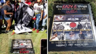 Photo of EAZY-E GETS NEW, PIMPED-OUT TOMBSTONE  On 55th Bday
