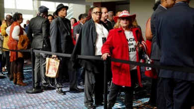 Photo of Donald Trump Makes an Awkward Pitch to Black Voters in Atlanta
