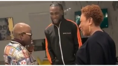 Photo of Grammy Award Winner, Angelique Kidjo Meets Burna Boy And His Mother In Lagos