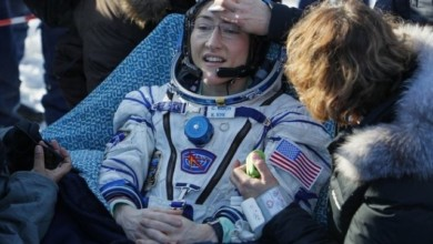 Photo of Record Breaking Astronaut Woman Christina Koch Returns To Earth