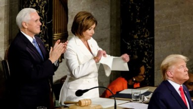 Photo of STATE OF THE UNION ADDRESS: TRUMP SNUB PELOSI'S HANDSHAKE; SHE RIPPED HIS SPEECH