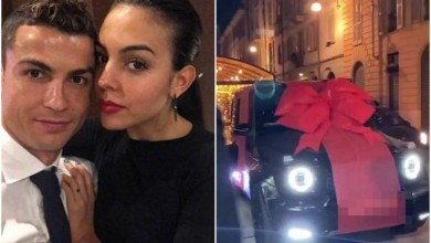 Photo of Cristiano Ronaldo's girlfriend Georgina Rodriguez Surprises Him With A Brand New Mercedes AMG G63 On His 35th Birthday