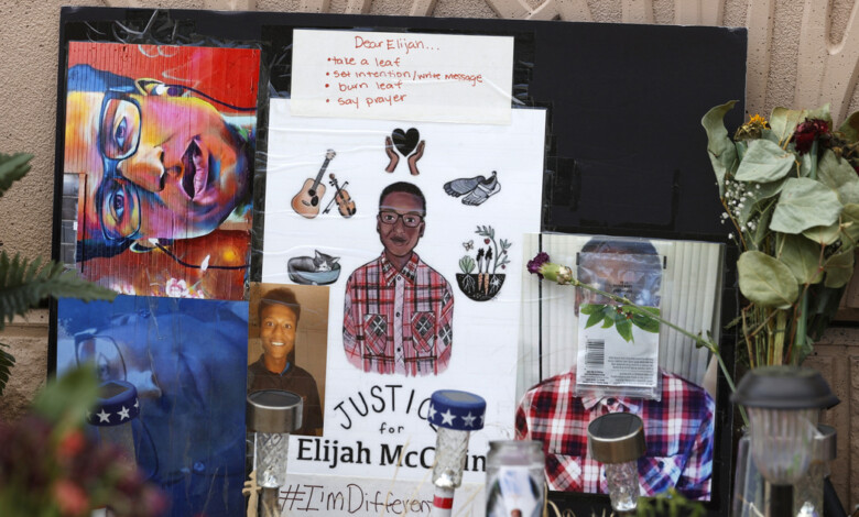 FILE – In this July 3, 2020, file photo, a makeshift memorial stands at a site across the street from where Elijah McClain was stopped by police officers while walking home in Aurora, Colo. A drug called ketamine that's injected as a sedative during arrests has drawn new scrutiny since a young Black man named Elijah McClain died in suburban Denver. An analysis by The Associated Press of policies on ketamine and cases where it was used nationwide uncovered a lack of police training, conflicting medical standards and nonexistent protocols that have resulted in hospitalizations and even deaths. (AP Photo/David Zalubowski, File)