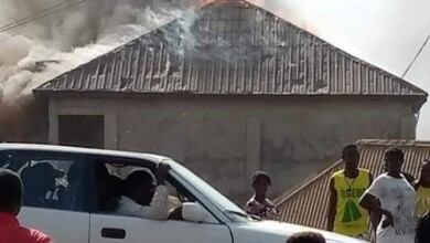 Photo of Benue Youths Set Church Ablaze as Pastor Allegedly Removes Men's Genitals.