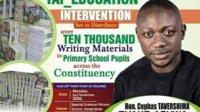 Photo of Benue Youngest Assembly Member launches Over 10,000 Writing Materials to Pupils Across His Constituency