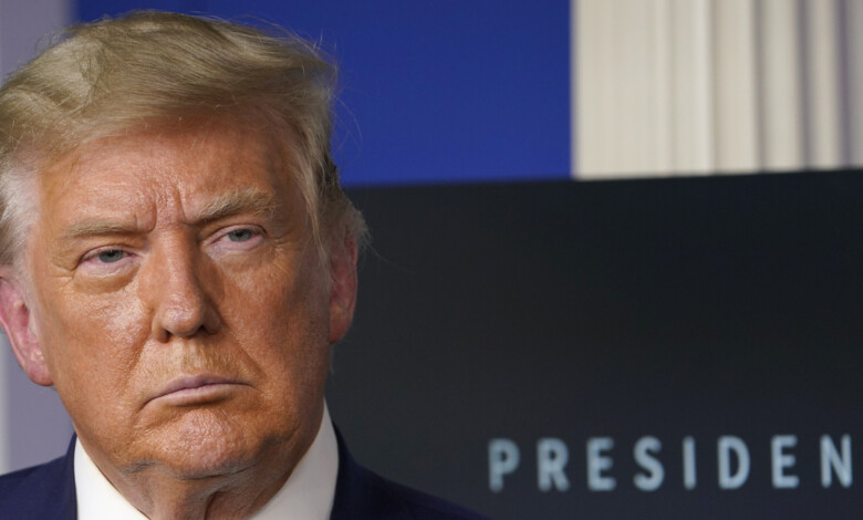 President Donald Trump listens during an event in the briefing room of the White House in Washington, Friday, Nov. 20, 2020, on prescription drug prices. (AP Photo/Susan Walsh)