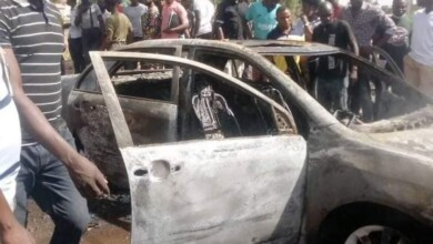 Photo of A 300 LEVEL STUDENT LOSES CAR TO FIRE AT BSU, MAKURDI.