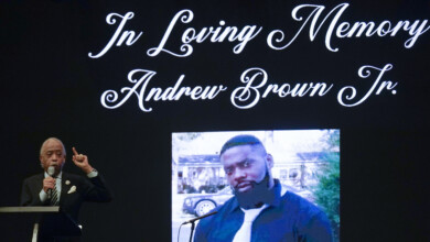 Photo of Autopsy: Andrew Brown Jr. died from gunshot wound to head